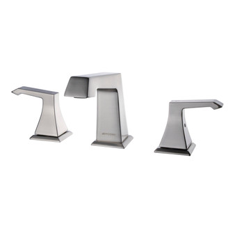 Dyconn Faucet WS3H39A-BN Shannon Double-Handle 3 Hole Widespread Bathroom Faucet, Brushed Nickel