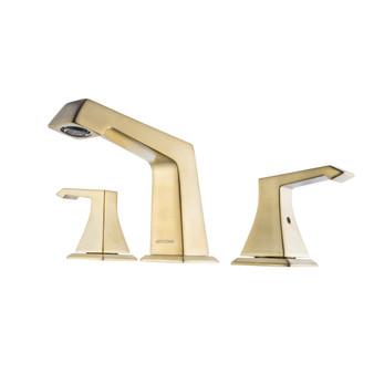Dyconn Faucet WS3H39A-BR Lynn Double-Handle 3 Hole Widespread Bathroom Faucet, Brass