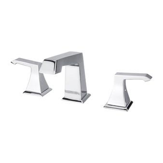 Dyconn Faucet WS3H39A-CHR Bayou Double-Handle 3 Hole Widespread Bathroom Faucet, Chrome