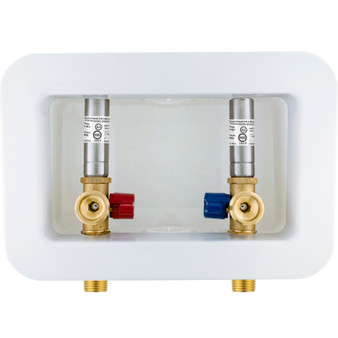 """Dyconn Washing Machine Outlet Box with Water Hammer Arrestor, 1/2 inch x 3/4 inch MHT (1/2""""-Inch Sweat Connection (MIP))"""