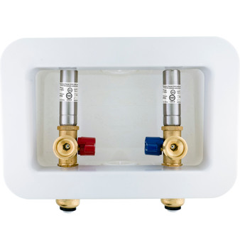 Dyconn Washing Machine Outlet Box with Water Hammer Arrestor, 1/2 inch x 3/4 inch MHT (Push-to-Connect)