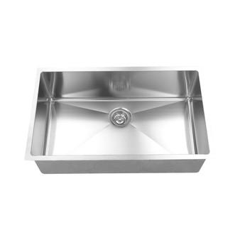 BOANN  Hand Made R15 Single Bowl 32 x 19-Inch Undermount 304 Stainless Steel Kitchen Sink, 16-Gauge with GRID
