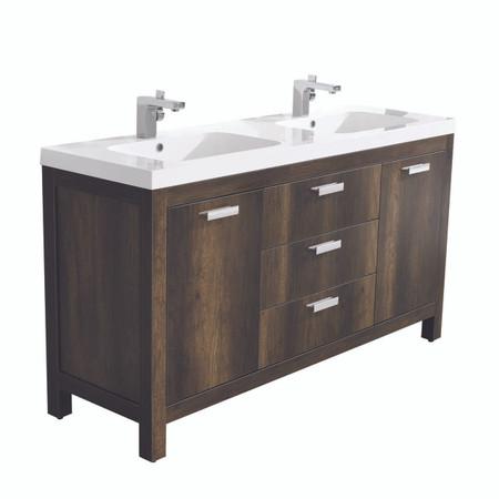 Dyconn Faucet Massa 60 Freestanding Bathroom Vanity W One Piece Solid Surface Stone Resin Countertop Basin Vanity Basin