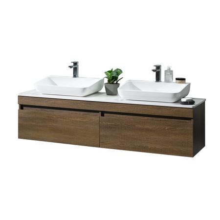 Dyconn Faucet Vcy160w63 Rovigo 63 Wall Hung Floating Mount Bathroom