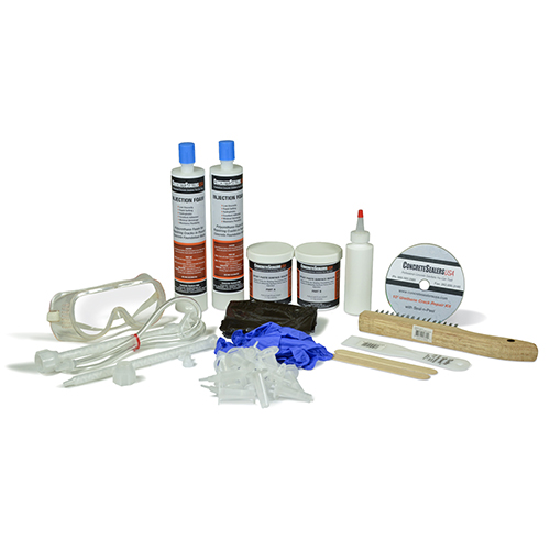 Polyurethane Foam Foundation Crack Repair Kit 10 ft. w/ Epoxy Paste Surface Sealer
