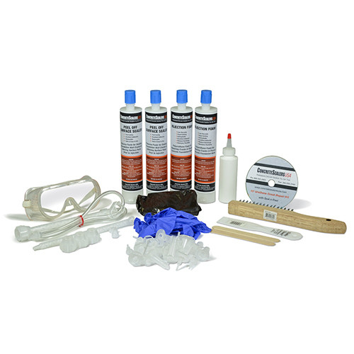 Polyurethane Foam Foundation Crack Repair Kit 10 ft. w/ Peel Off Surface Sealer