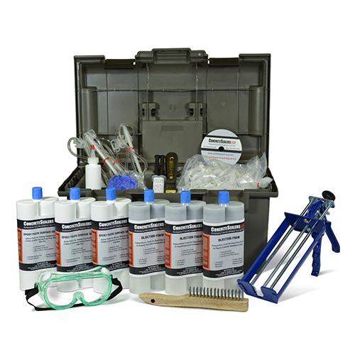 Polyurethane Foam Foundation Crack Repair Kit 30 ft. w/ Epoxy Paste Surface Sealer