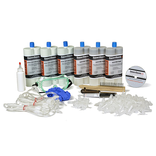 Polyurethane Foam Foundation Crack Repair Kit 30 ft. w/ Epoxy Paste Surface Sealer (Consumables)