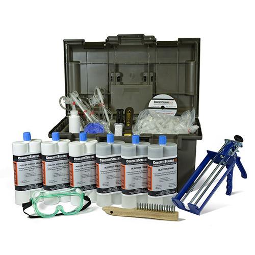 Polyurethane Foam Foundation Crack Repair Kit 30 ft. w/ Peel Off Surface Sealer