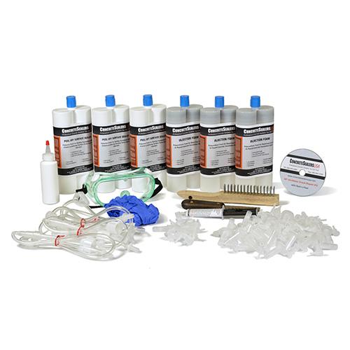 Polyurethane Foam Foundation Crack Repair Kit 30 ft. w/ Peel Off Surface Sealer (Consumables)