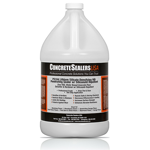 PS104 Lithium Silicate Densifying WB Penetrating Sealer w/ Siliconate Repellent (1 gal.)