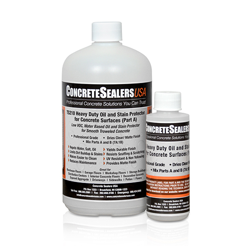 TS210 Heavy Duty Oil and Stain Protector for Concrete Surfaces (1 qt. Kit)