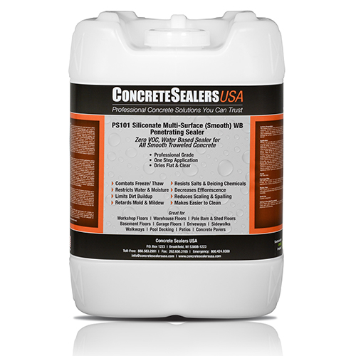 PS101 Siliconate Water Repellent WB Penetrating Sealer (5 gal.)