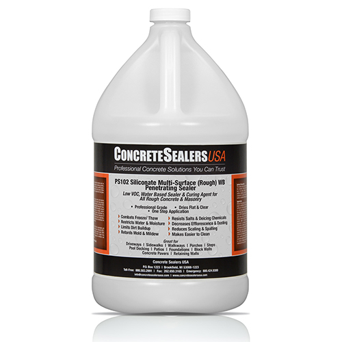 PS102 Siliconate Multi-Surface (Rough) WB Penetrating Sealer (1 gal.)