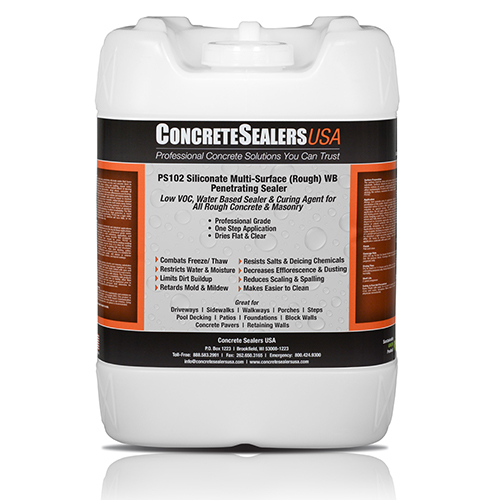 PS102 Siliconate Multi-Surface (Rough) WB Penetrating Sealer (5 gal.)