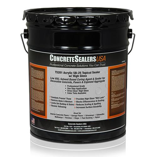 TS201 Acrylic Topical Sealer SB-25 w/ High Gloss (5 gal.)