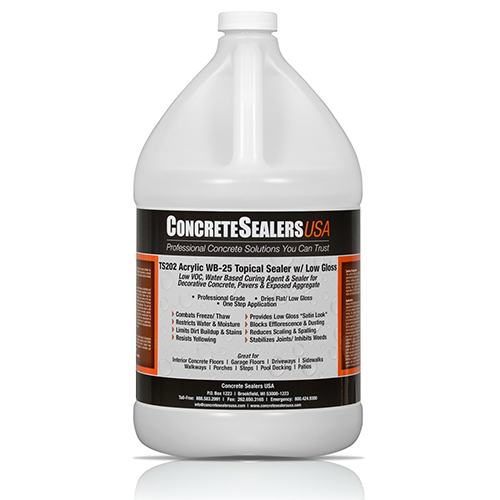 TS202 Acrylic Topical Sealer WB-25 w/ Low Gloss (1 gal.)