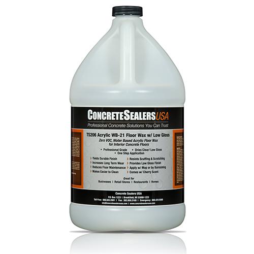 TS206 Acrylic Floor Wax WB w/ Low Gloss (1 gal.)
