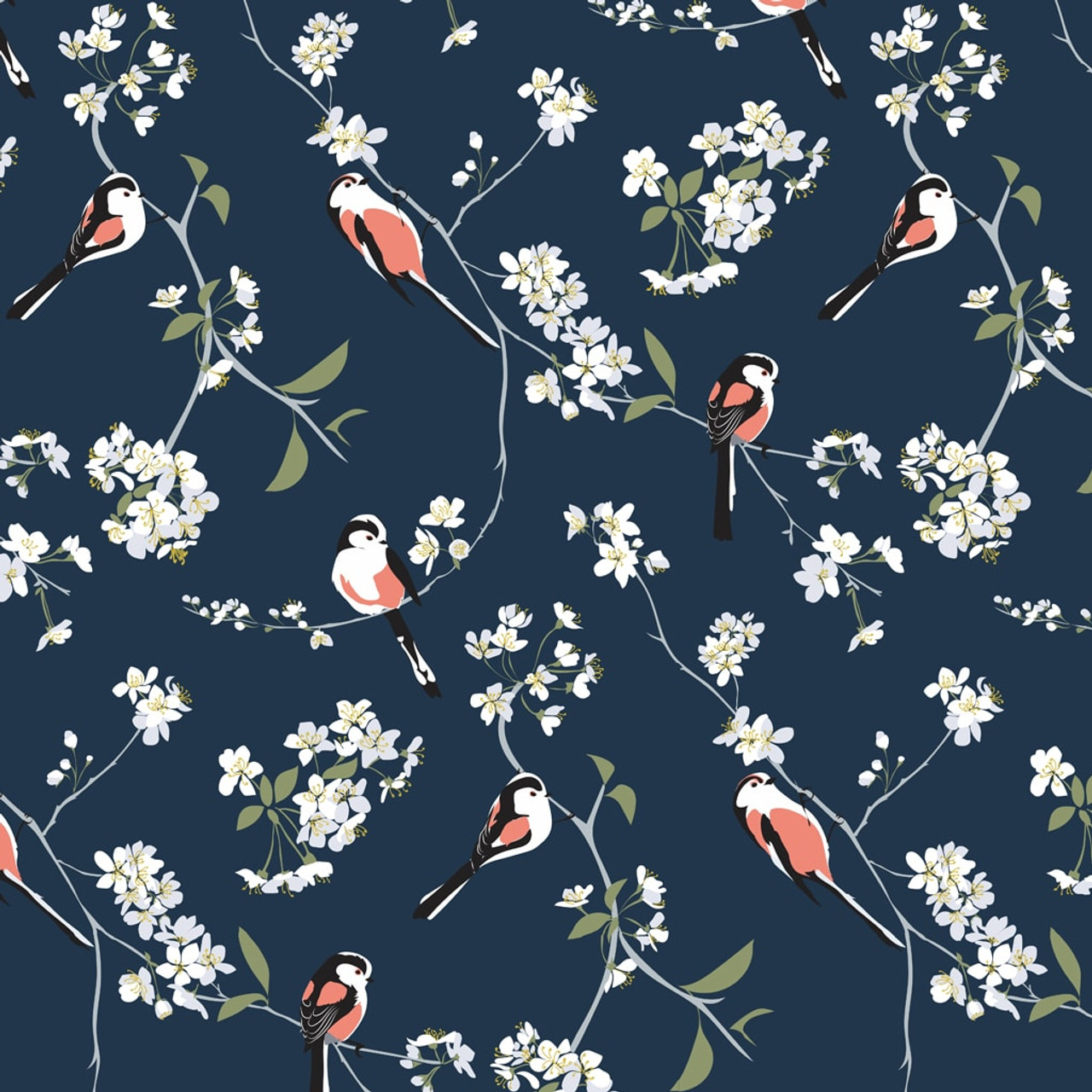 Blossom Bird Wallpaper Covered Wallpaper