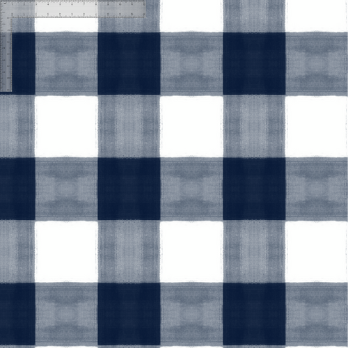 Navy and white gingham wallpaper swatch.