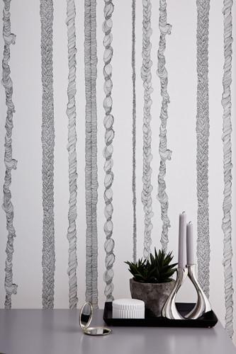 Rapunzel's braids are hand drawn by British wallpaper designer, Abigail Edwards.