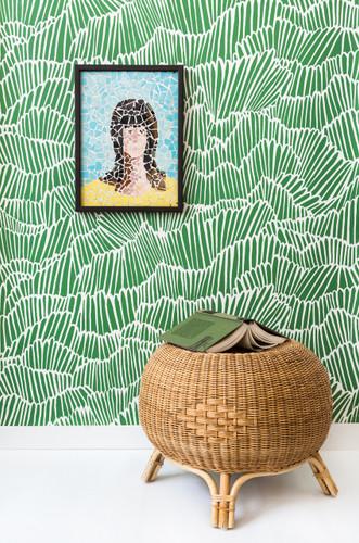 Abstract green wallpaper.