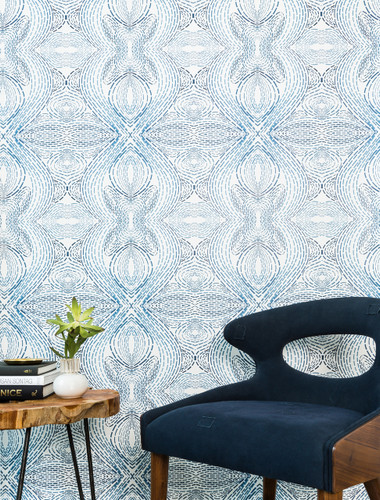 A stitch patterned wallpaper.