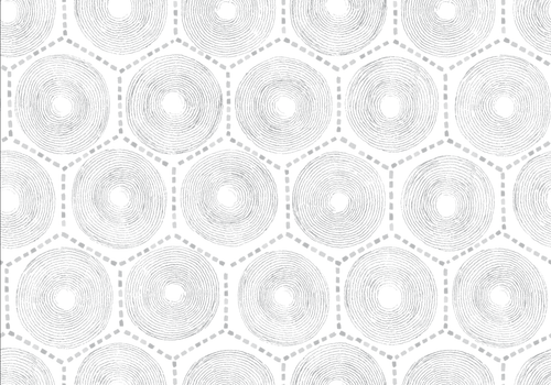 Hexagon pattern wallpaper in gray.