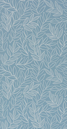 Classic leaf wallpaper in blue.