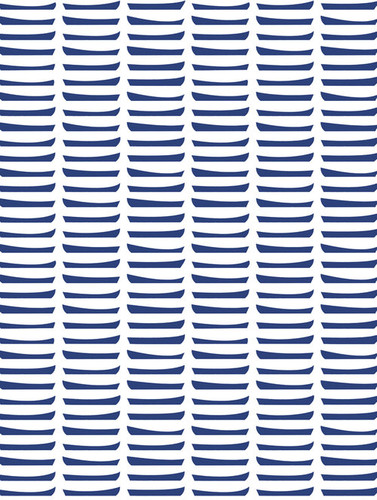 Navy row boat wallpaper swatch.