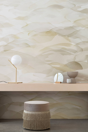 Watercolor wallpaper inspired by sand dunes.