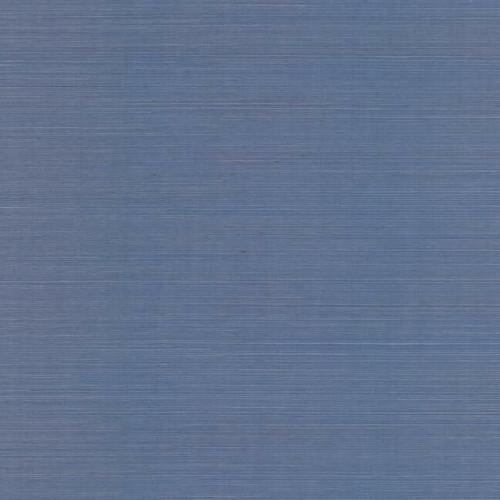 Blue sisal grasscloth wallpaper.