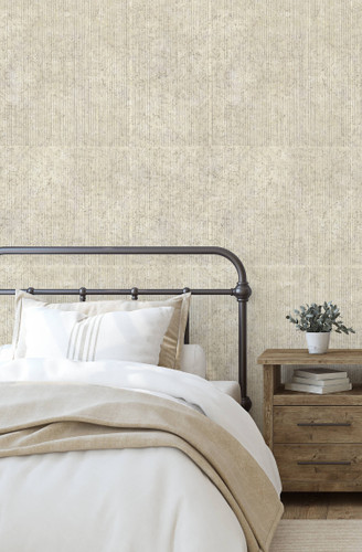 Calming birch wallpaper in cream.