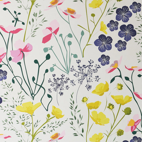 Colorful wildflower wallpaper.