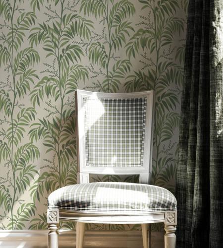 Palm frond wallpaper.