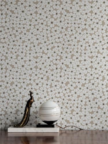 White flowers in multitude wallpaper.