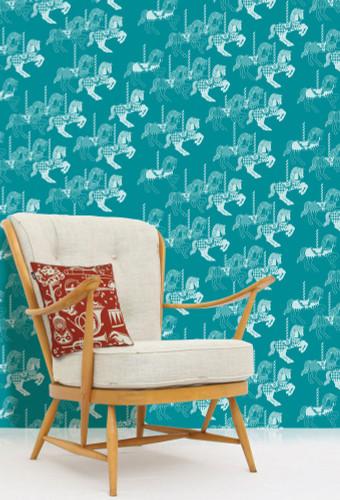 Merri-go-round horse wallpaper.