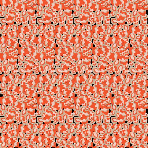 Classic cheetah spots in a fun new orange color.