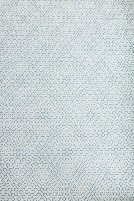 Subtle hydrangea pattern in dove blue wallpaper swatch.