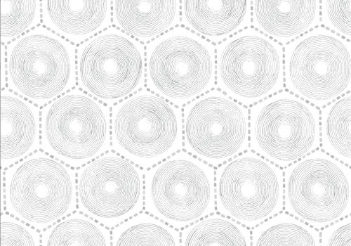 Hexagon pattern wallpaper in gray.