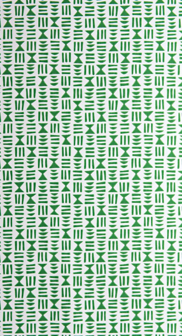 Green symbols on white wallpaper.
