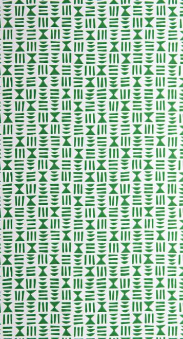 Green symbols on white wallpaper.