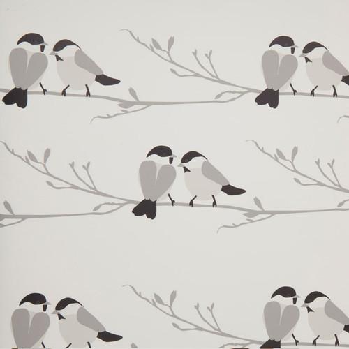Monochromatic bird wallpaper.