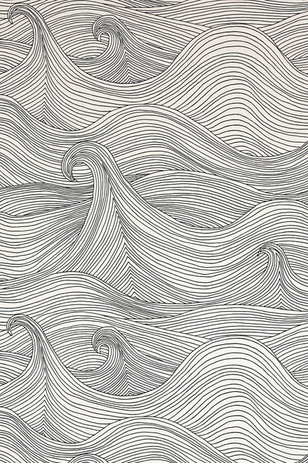 Ocean waves in black and white, winter Seascape wallpaper.