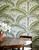 Palm wallpaper in the dining room.