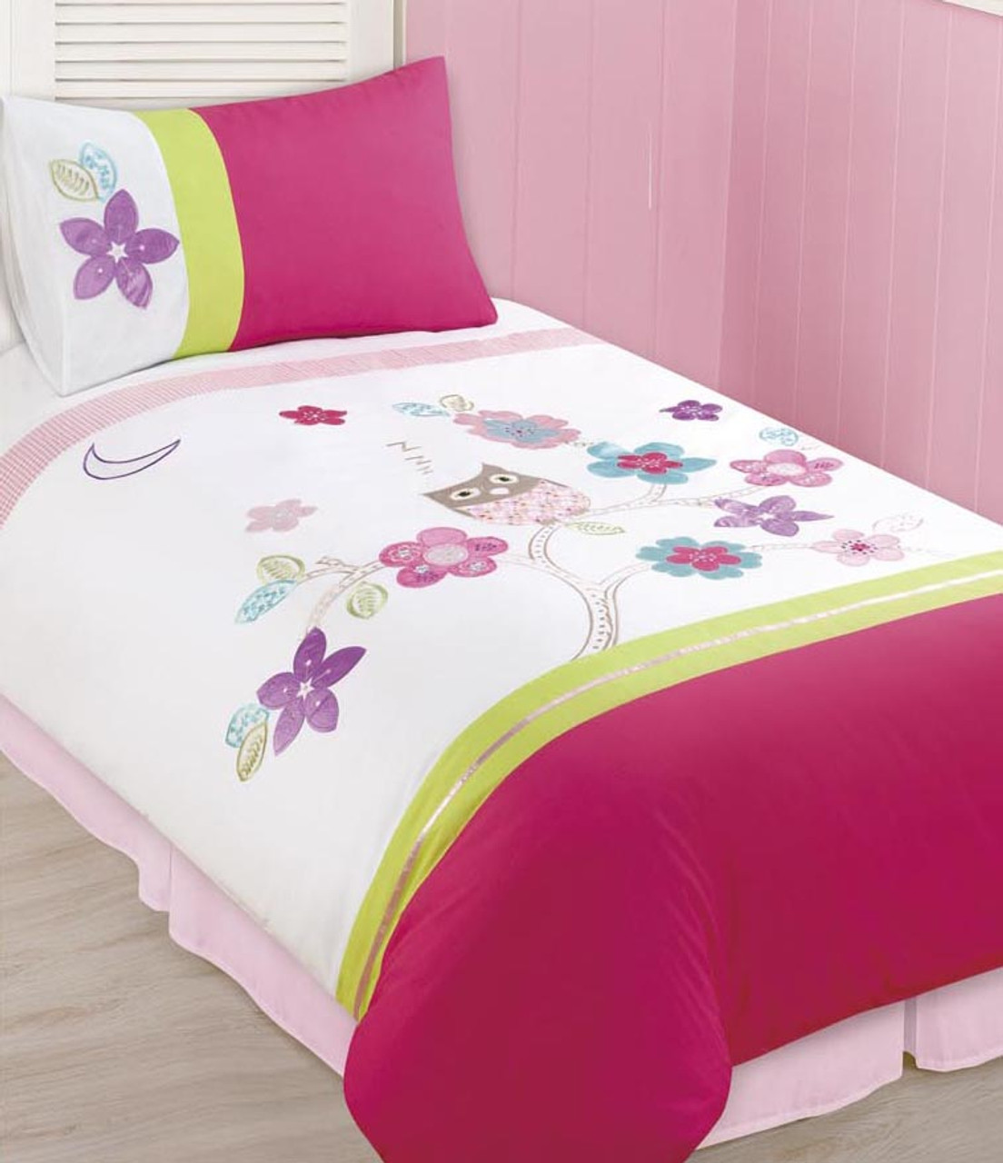 Kids Embroidered Quilt Cover Sets