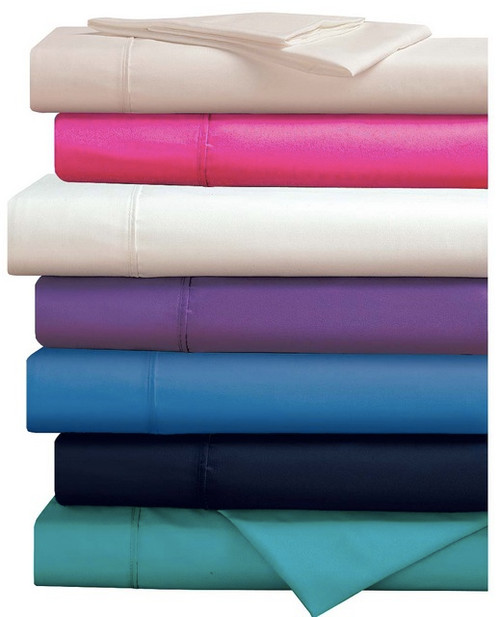 280 Thread Count Percale  Plain Dyed Fitted Sheet