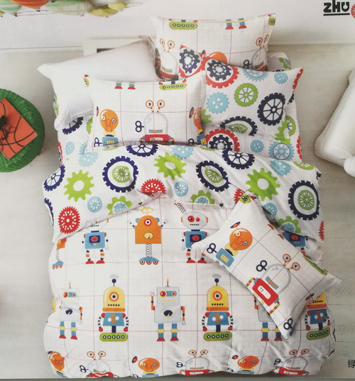 [50%OFF!]100% Cotton Printed Kids Quilt Cover Set-NL18001