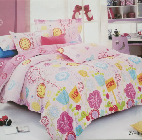 [50%OFF!]100% Cotton Printed Kids Quilt Cover Set-NL18012