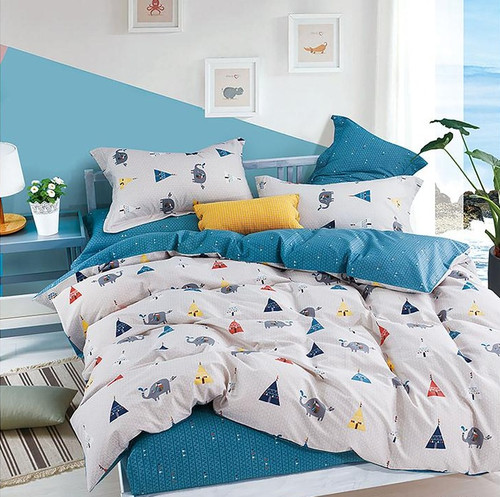 [New Arrival!]100% Cotton Printed Kids Quilt Cover Set-NL18224